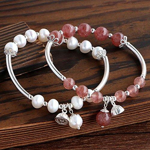 hoom-pulsera-de-perlas-de-agua-dulce-naturales-pulseras-de-cristal-senoras-pulserascrystal-18cm