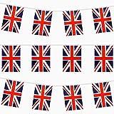 TRIXES 9M Banderines Rectangulares Emblema del Reino Unido Rojo Blanco y Azul para Celebraciones Nacionales