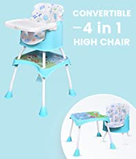 R for Rabbit Cherry Berry Grand Baby High Chair - The Convertible 4 in1 High Chair for Baby/Kids (Green)