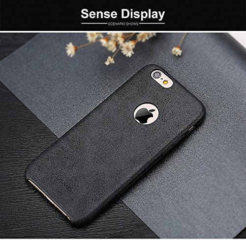 Casecart iPaky Top-Quality Luxury Leather Ultra Thin Back Cover for Apple iPhone 6/6S - BLACK