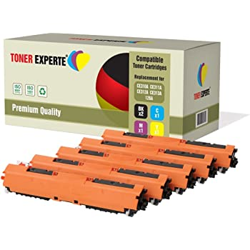Set of 5 TONER EXPERTE® Compatible with HP 126A CE310A CE311A CE312A CE313A Premium Toner Cartridges Replacement for HP LaserJet CP1025 CP1025nw CP1020 M175 M175a M175nw TopShot M275 M275a M275nw
