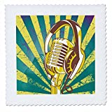 3dRose QS 115363_ 5bunt Mikrofon und Kopfhörer auf