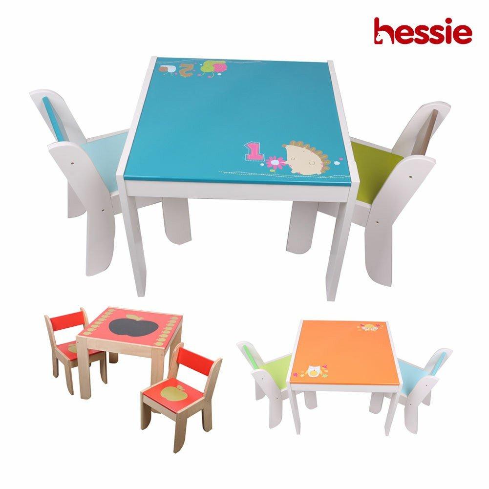 Hessie Piccolo giocattolo di bambini piccoli gioca sedia da tavolo  impostato, stanza da letto in legno/camera da letto scuola materna - Giochi  Legno
