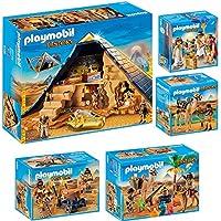 PLAYMOBIL® History set en 5 parties 5386 5387 5388 5389 5394 pyramide de pharaon + pilleur de tombe + Égyptiens avec baliste + Combattants et chameaux + Caesar & Cleopatra
