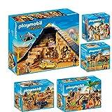 PLAYMOBIL History set en 5 parties 5386 5387 5388 5389 5394 pyramide de pharaon + pilleur de tombe + Égyptiens avec baliste + Combattants et chameaux + Caesar & Cleopatra