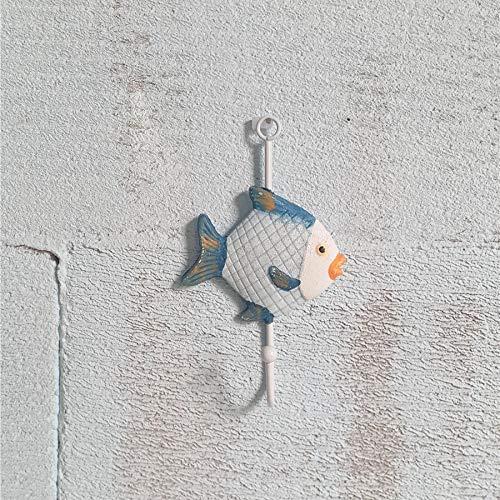 Gu3Je Kreative Holzhaken Marine Animal Home Haken Dekoration 1 Satz / 3 Stück (9 Modelle erhältlich:) I 17.5x8.5cm -