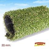 Prato Sintetico Erba Finta calpestabile 20mm tappeto moquette manto verde (1 METRO)