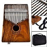 17 Tasten EQ Kalimba Acacia Thumb Piano Link Lautsprecher Elektrik Pickup mit Tasche Kabel