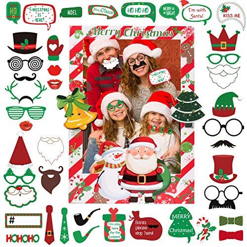 Joyjoz Navidad Photocall con marco de fotos