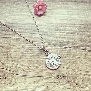 Kurze Kette Uhr (nicht funktionstüchtig) Silber, clock / vintage / ethno / hippie / must have / statement / florabella schmuck