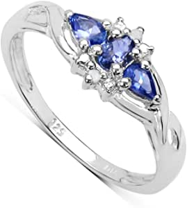 Details about  /Tanzanite Engagement Ring 925 Sterling Silver Ring Tanzanite Ring Gift For Her