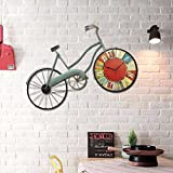 WERLM Persönlichkeit design Home Deko Wanduhr art Clock retro Schlafzimmer kreative Wanduhr Fahrrad Uhr wand Dekoration personalisierte Dekoration home Wanddekoration Wanddekoration geeignet für Familie Restaurant Küche Büro Schule ideal für jedes Zimmer ist, 83 * 54 CM