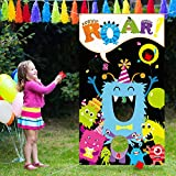 Carnival Games Bean Bag Toss Game Monster Toss Games with 3 Bean Bag, Fun Indoor and Outdoor Toss Game for Kids and Adults, Great Monster Theme Party Decorations and Supplies