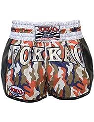 """'yokkao Carbon Muay Thai Pantalones Cortos """"Attack, hecha de algodón, color camuflaje, tamaño L (30"""")"""