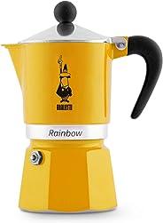 Bialetti 4982 Rainbow Moka Espresso Kahve Pişiricisi 3 Kişilik - Sarı