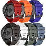 NotoCity Compatibel met armband Fenix 5 Plus Easy Fit 22 mm siliconen band vervanging voor MARQ Athlete/Fenix 5/Fenix 5 Plus/