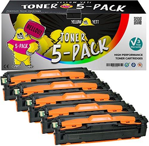 Yellow Yeti 5 Toner compatibili per Samsung Xpress SL-C1810W SL-C1860FW CLX-4195FN CLX-4195FW CLP-415N CLP-415NW | CLT-P504C K504S 2500 copie C504S M504S Y504S 1800 copie [3 Anni di Garanzia]