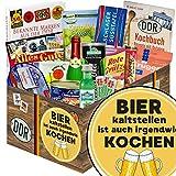Bier kalt stellen ist auch irgendwie kochen | DDR Korb | mit Schlagersüßtafel, Viba Nougat Stange uvm | GRATIS Aufkleber - Bier kalt stellen ist auch irgendwie kochen