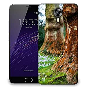 Snoogg Small White Flowers Designer Protective Phone Back Case Cover For Meizu M2