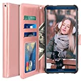 Custodia Huawei Mate 10 Pro, LK Case in Pelle PU di Lusso Portafoglio con Fessure di carta Cover Protettiva - Oro rosa