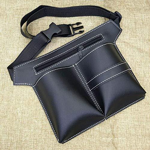LRXHGOD Friseur-Taillen-Halter-Kasten-Beutel-Friseur-Scheren-Beutel-Pistolenhalfter mit Taillen-Gurt-Salon-Friseurscheren-Pflegenschere,Black,28x20cm -