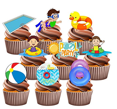 lot-de-36-decorations-a-cupcake-comestibles-theme-fete-de-piscine