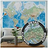 great-art Carte du Monde décoration Murale Vintage - décoration Murale rétro Motif Poster XXL Worldmap by (140 x 100 cm)