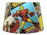Marvel Avengers Abat-jour ou Abat-jour de suspension Ironman Thor Hulk Spiderman pour chambre de garçon super-héros Accessoires cadeaux Abat-jour vintage Large 33cm