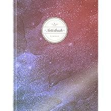 """Blanko Notizbuch (©Star, A4, 156 Seiten, Softcover)    Mit Register + Seitenzahlen    Leeres Notizheft zum Selbstgestalten, Zeichenbuch, Skizzenbuch, Blankobuch, Malbuch """"Weltall"""""""