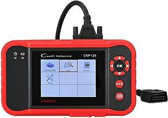 LAUNCH OBD2 EOBD Diagnosegerät Fehlercodeleser Code Scanner OBDII Diagnosewerkzeuge, unterstützt Motor ABS SRS EPB SAS Öl Reset, in deutscher Menüeinführung, CRP129
