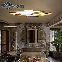 KHSKX Lampada da soffitto,Vintage lampada da soffitto GU10 balcone personalizzato semplice ferro battuto ingresso 4 nero bianco soffitto industriali creative scale 910*160mm , bianco