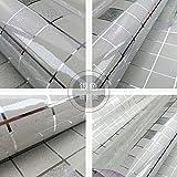 5 IN 1 TABLE Anti Öl Aufkleber Küche, wasserdicht und Ölverschmutzung Aufkleber, Verdickung und Hochtemperaturbeständige Mosaik Aluminiumfolie Aufkleber Länge 5 M * 0,45 m breit (2,25 mi), K