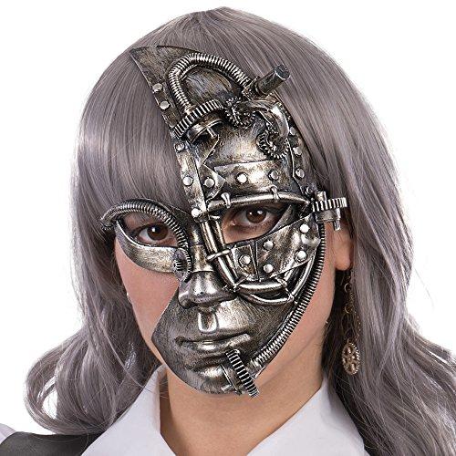 Accesorios steampunk -Máscara Plata, talla única