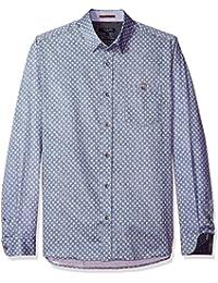 Ted Baker Men's Teo-Ls Geo Chambrey Shirt
