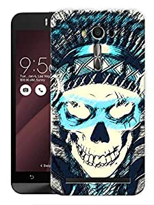 "Humor Gang Pirate Skull Printed Designer Mobile Back Cover For ""Asus Zenfone Selfie"" (3D, Matte Finish, Premium Quality, Protective Snap On Slim Hard Phone Case, Multi Color)"