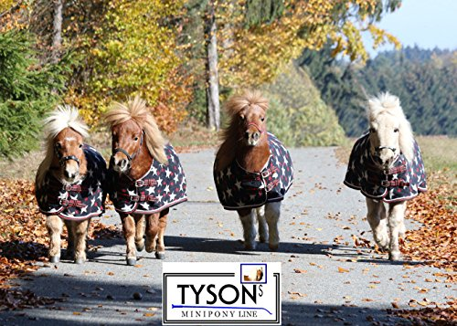 Tysons Breeches Abschwitzdecke STERNI Minishetty Mini Shetty Fleece Schwarz Falabella Minipony 65 70 75 80 85 90 95 cm (95)