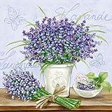 Ambiente servilletas de cena / fiesta ca.33x33 Lavender Scene Lila - Perfecto Como Regalo