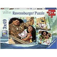 Ravensburger - 08004 - Lot de 3 Puzzles Vaiana - 49 pièces