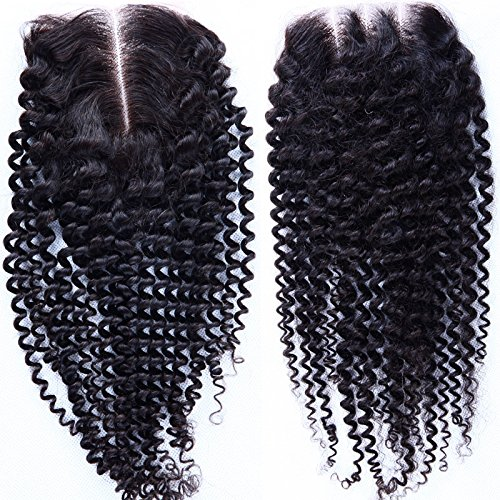 Fureya Hair Brazilian Virgin Hair Human Hair Schlie?ung With Baby Hair Kinky...