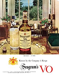 seagrams vo Whisky Canadien Art Print