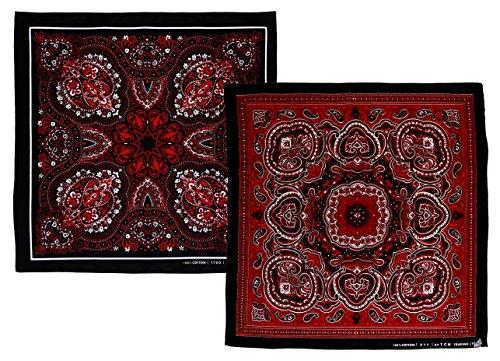 2-stuck-schwarz-rot-weiss-muster-kopftuch-bandana-halstuch