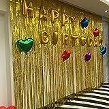 Folienfransenvorhang für den Hochzeitsgeburtstag und spezielle Festdekoration gold