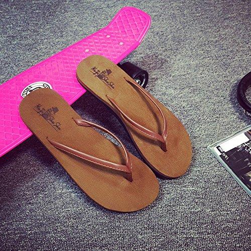 Womens Ladies  Sandals Chaussures d'été femme Sandales plates antidérapantes Chaussures de plage couple Chaussures européennes et américaines pour hommes et femmes Confortable ( Couleur : 1001 , taill 1003