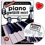 Piano gefällt mir Classics - 50 klassischen Stücken für Klavier: Bach, Strauss, Liszt, Mozart, Beethoven, Händel, Grieg. - Notenbuch mit CD und Notenklammer - BOE7813 9783865439239
