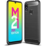 Amazon Brand - Solimo Protective Mobile Cover (Soft & Flexible Back Case) for Samsung Galaxy M21 2021 Edition (Black)