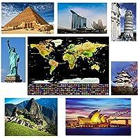Offerta - Mappa del Mondo da Grattare Formato Poster XXL di Alta qualità e Definizione – La Miglior Cartina del Mondo da Grattare con Accessori Inclusi & in Regalo 10 Mobile App per i Tuoi Viaggi