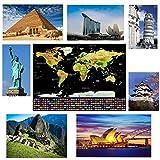Offerta - Mappa del Mondo da Grattare Formato Poster XXL di Alta qualità e Definizione - La Miglior Cartina del Mondo da Grattare con Accessori Inclusi & in Regalo 10 Mobile App per i Tuoi Viaggi