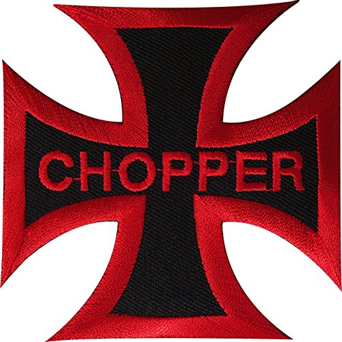 Picadora parche hierro Sew en ropa motorista motocicleta moto bordado Badge