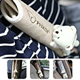 Frenshion 1 Pair Komfortable Schulter Auto-Sicherheitsgurt-Kissen Seat Belt Covers Chestnut