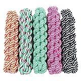 yunt Hundespielzeug Seil A Geschmack aus Baumwolle Tress ¨ ¦ Farbe Bonbon Spielzeug für Hunde/Welpen (zufällige Farbe)